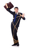 Businessman tied up with rope Royalty Free Stock Photography