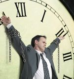 Businessman and time Royalty Free Stock Photography