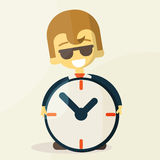 Businessman  with time, business concept in busy Stock Photography