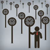 Businessman time control Stock Image