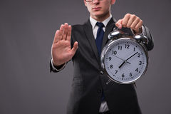 The businessman in time management concept Royalty Free Stock Photography
