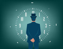 Businessman and time for solutions Stock Photo