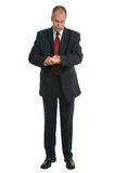 Businessman timecheck Stock Photos