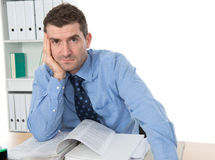 Businessman is tired Royalty Free Stock Images