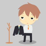 Businessman is tired. Stock Photography