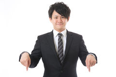 Businessman to point at Royalty Free Stock Image