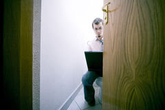 businessman toilet Στοκ Φωτογραφίες