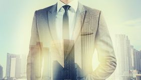 Businessman at the top Stock Photography