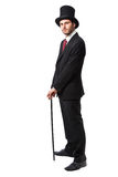 Businessman with Top Hat Royalty Free Stock Image
