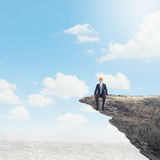 Businessman on top Royalty Free Stock Images