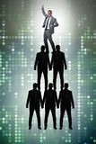 The businessman at the top of organisation chart. Businessman at the top of organisation chart Stock Photo