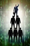 The businessman at the top of organisation chart. Businessman at the top of organisation chart Royalty Free Stock Image