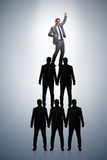 The businessman at the top of organisation chart Royalty Free Stock Photography