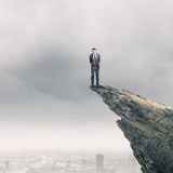 Businessman on top Stock Photo