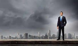 Businessman on top Stock Photography
