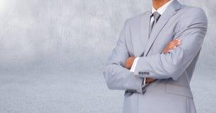 Businessman Torso against a light grey background Stock Photos