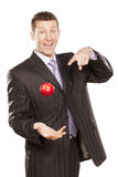 Businessman Tossing Apple Royalty Free Stock Photos