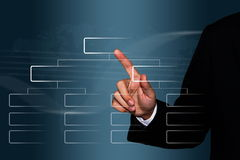 Businessman Touch On An Organization Chart Royalty Free Stock Photography