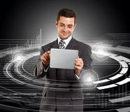 Businessman With Touch Pad Stock Photo