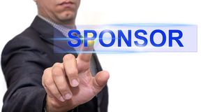 Sponsor text with businessman royalty free stock photography