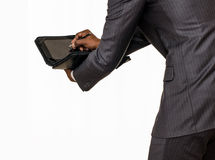 businessman and  touch tablet II Royalty Free Stock Photo