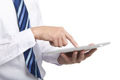 Businessman touch tablet pc Stock Photography