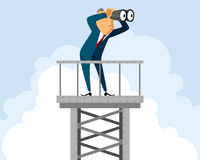 Businessman on tower Royalty Free Stock Images