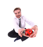 Businessman and toy Stock Photos