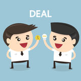 Businessman Trading, flat design, icon vector Stock Image