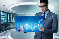 The businessman trading in world stock market Stock Photo