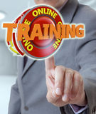 Businessman and training signal Royalty Free Stock Image