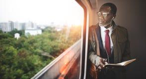 Businessman Travel Passenger African Descent Concept Stock Photo