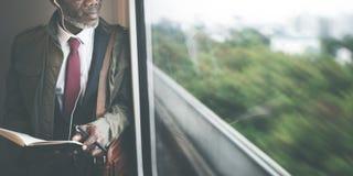 Businessman Travel Passenger African Descent Concept Stock Images