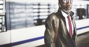 Businessman Travel Passenger African Descent Concept Royalty Free Stock Photos