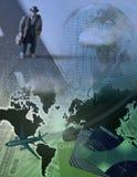 Businessman Traveler. High Resolution 3D Illustration Businessman Traveler Royalty Free Stock Photos