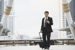 Businessman traveler journey business travel royalty free stock images
