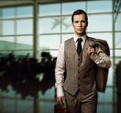 Businessman traveling Stock Photo