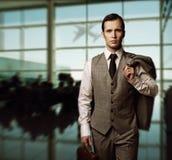 Businessman traveling Stock Photo