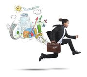 Businessman always traveling Stock Photo