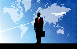 Businessman travelling. Businessman travel around the world for business Royalty Free Stock Image