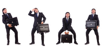 The businessman travelling isolated on white Stock Image