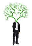 Businessman with tree head, vector Royalty Free Stock Photos