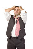 Businessman in trouble Royalty Free Stock Photos