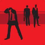 Businessman in trouble. Sad businessman in trouble. Vector illustration Stock Images
