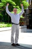 Businessman truimph Stock Photo