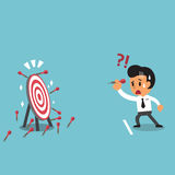 Businessman try to hit a target Royalty Free Stock Image