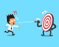 Businessman try to hit a target Royalty Free Stock Photography