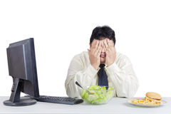 Businessman trying diet Stock Photography
