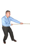 Businessman tug of war Royalty Free Stock Image