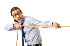 Businessman - tug of war concept. Businessman in tug of war concept Stock Image